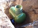 Montaż zbiornika podziemnego gazu w wykopie